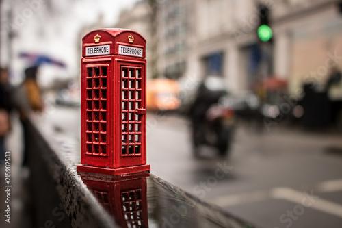 Obraz na plátně Miniatura de Cabine telefonica em Londres