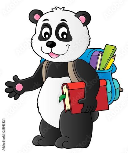 Foto op Plexiglas Voor kinderen School panda theme image 1
