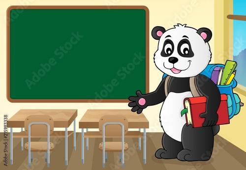 Foto op Plexiglas Voor kinderen School panda theme image 2