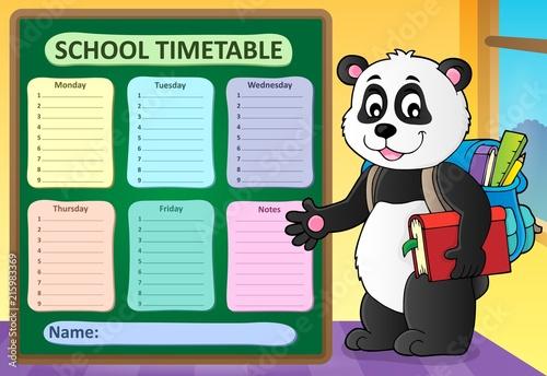Foto op Plexiglas Voor kinderen Weekly school timetable template 6