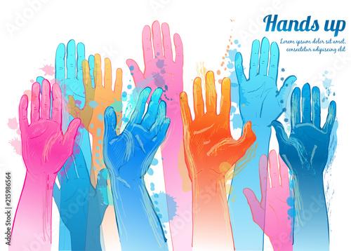 Vector hands up.