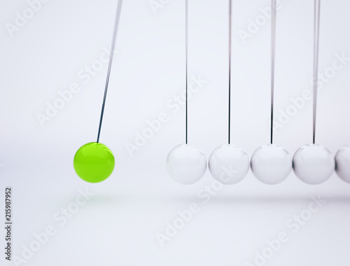 Fotografie, Obraz  Newton's cradle physics concept background for cause and effect