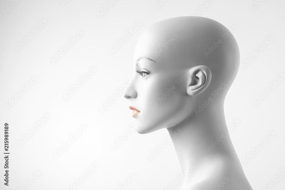 Fototapeta White Female Mannequin Profile