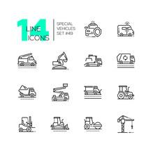 Special Vehicles - Line Design Icons Set