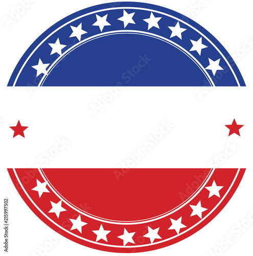 patriotic buttons Wall mural
