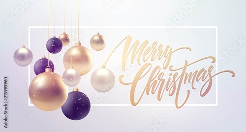 Foto  Christmas background with baubles and place for text