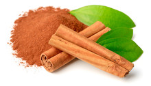 Cinnamon Powder And Sticks Wit...
