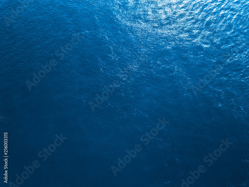 Blue sea surface aerial view
