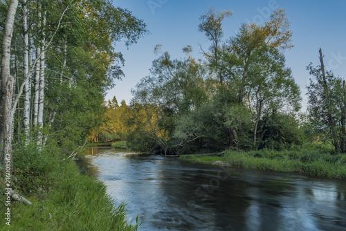 Foto op Plexiglas Rivier Tepla Vltava river near Soumarsky Most village
