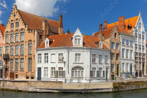 Deurstickers Brugge Bruges. Canal Spiegel Rei.