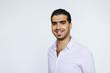 canvas print picture - Fröhlicher, selbstbewusster syrischer Mann