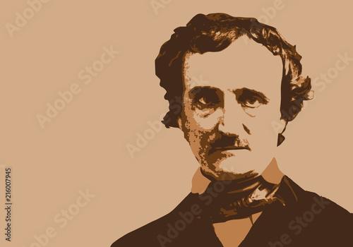 Edgar Poe - écrivain - portrait - personnage - célèbre - littérature - célèbre - Wallpaper Mural