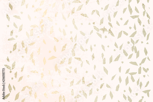 Fotografie, Obraz  Trendy Chic Pastel colored background with Gold Foil geometric shapes