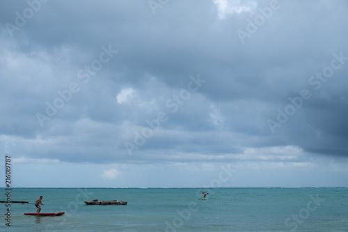 Fotobehang Zanzibar Surfing in Zanzibar