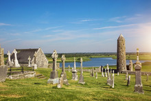 Clonmacnoise Cathedral  With T...