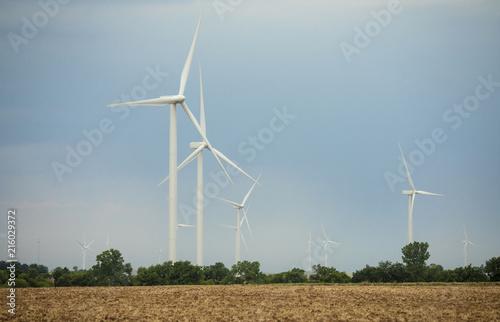 Aluminium Prints Mills Wind turbines on the plains of Oklahom, USA.