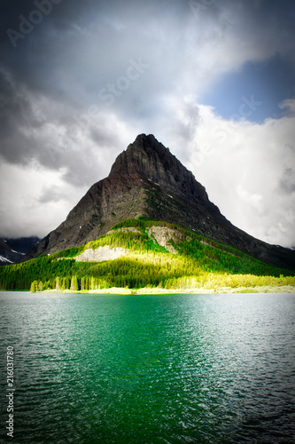 Fotografie, Obraz  Stormy Skies Over Mountain Lake