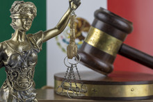 Human Rights Act And Justice Concept , Mexico Flag