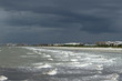 The nasty, storm moving into shore in Cocoa Beach in Florida
