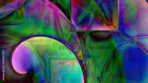 Fototapety, obrazy: Abstract Spiral Prism Background