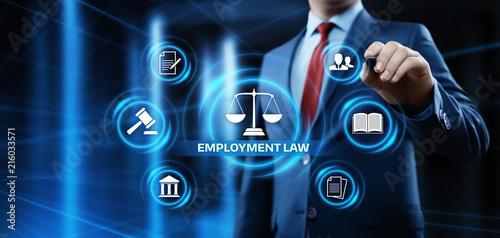 Fototapeta Employment Law Legal Rules Lawyer Business Concept obraz na płótnie