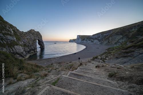 Photo  Twilight at Durdle Door on the UK's Jurassic Coast