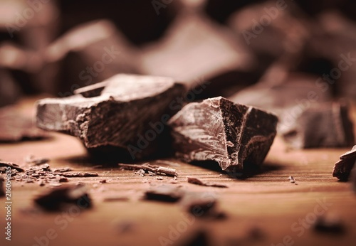 Dark Chocolate Blocks and Pieces Canvas Print