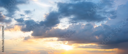 Obraz Panorama sunset sky background - fototapety do salonu