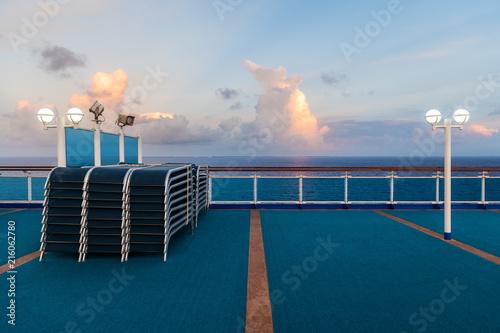 Staande foto Oceanië Morning Deck and Sky