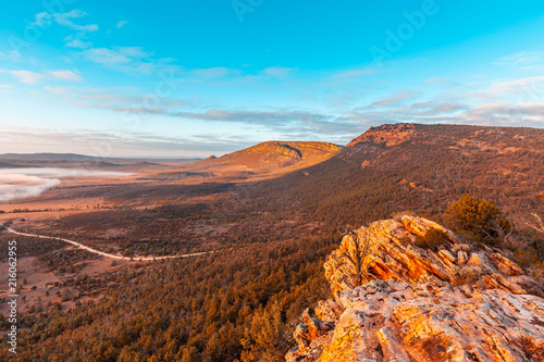 Foto op Aluminium Zalm View from Jarvis Hill lookout at sunrise. Hawker, South Australia
