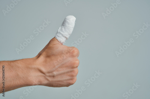 Photo bandage finger