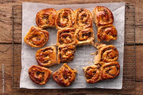 Photo  fresh baked chelsea  buns