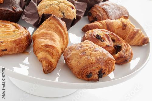 mixed brakfast pastries Canvas Print