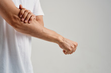 Man's Hand, Muscles, Pain, Elbow