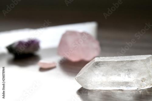 Fotografie, Obraz  Quartz and Other Crystals