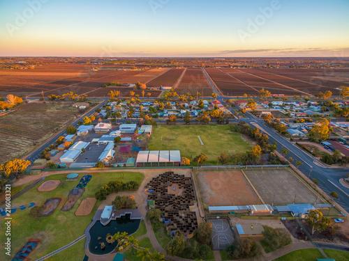 Tuinposter Luchtfoto Aerial view of Monash adventure park, Riverland, South Australia