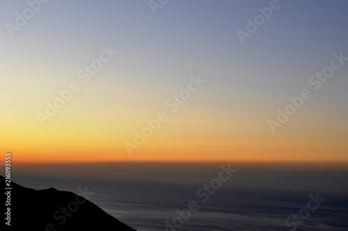 Poster Mer coucher du soleil sunset in the mountains of Spain