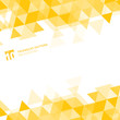 Abstract yellow triangles geometric on white background.