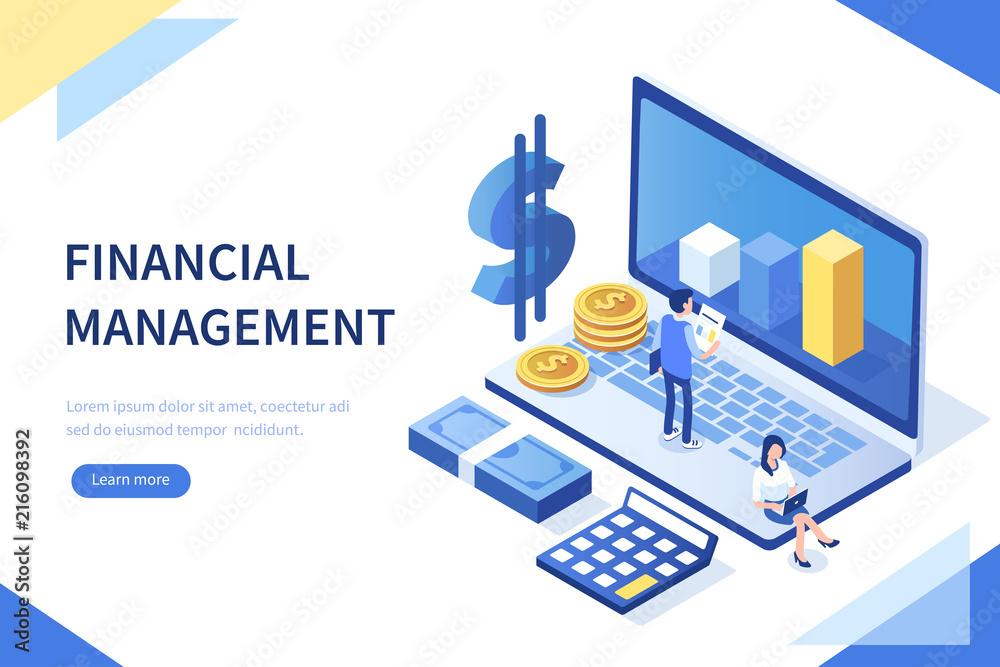 Fototapeta financial management