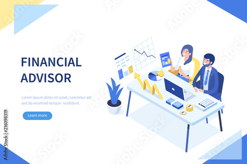 Financial advisor Wallpaper Mural