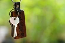 House Keys With Wooden Home Ke...