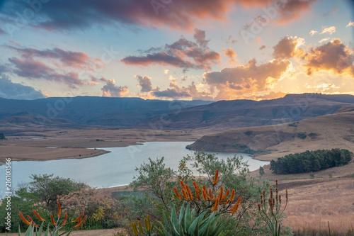 Tuinposter Zalm Drakensberg Mountains, Kwazulu Natal, South Africa