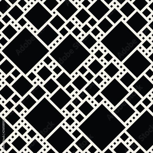 Fototapety geometryczne czarne-kwadraty-z-ukosa