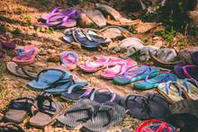 Flipflops Left On The Ground