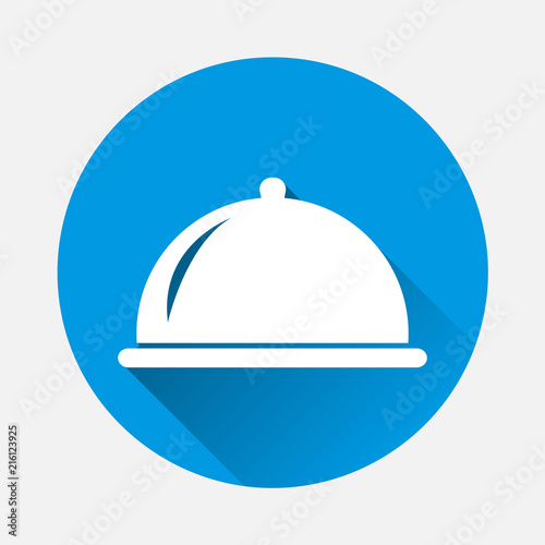 Hot Food In Restaurant Vector Icon Symbol Of A Dinner In A