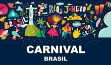 Illustration Brazil Carnival