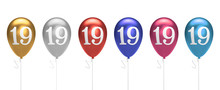Number 19 Birthday Balloons Co...