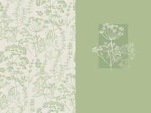 Elegant Classic Herbal Seamless Pattern