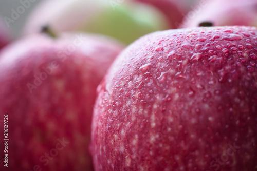 Fototapeta jabłko jablka-w-powiekszeniu-makro