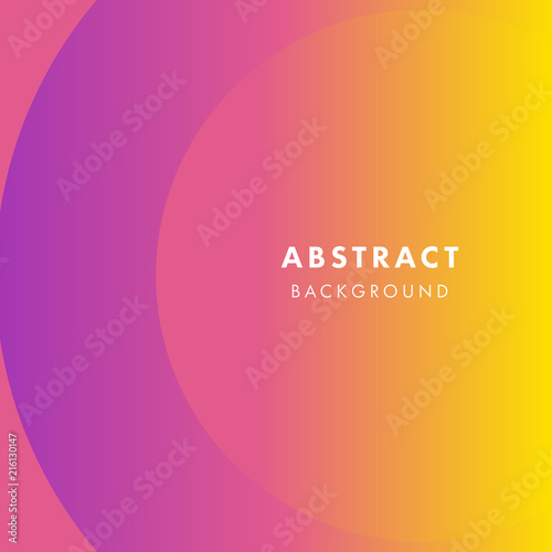 abstract yellow and purple background with flat dynamic circle